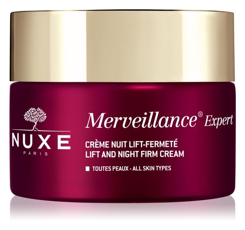 Nuxe Merveillance Expert ujędrniający krem na noc z efektem liftingującym