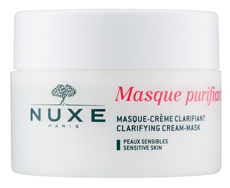 Nuxe Cleansers and Make-up Removers maseczka oczyszczająca dla cery wrażliwej