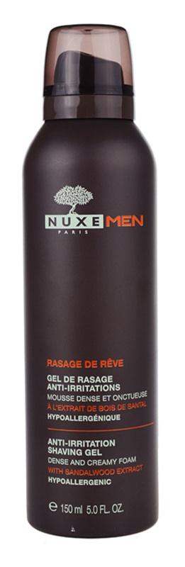 Nuxe Men gel de barbear contra prurido e irritação de pele