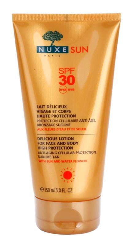 Nuxe Sun leite solar de rosto e corpo SPF 30