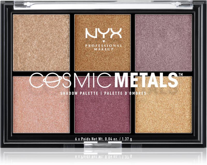 NYX Professional Makeup Cosmic Metals™ paletka očných tieňov
