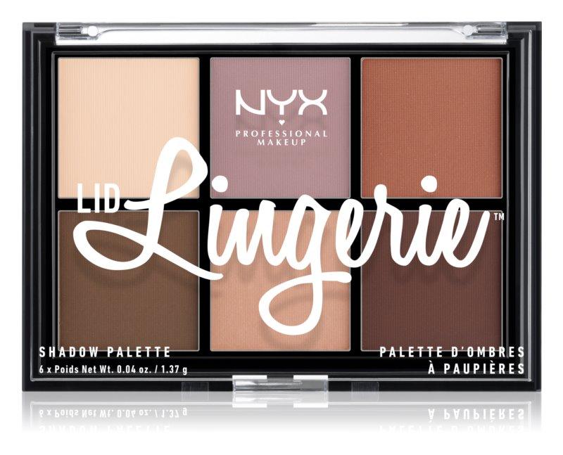 NYX Professional Makeup Lid Lingerie paletă cu 6 farduri în degrade