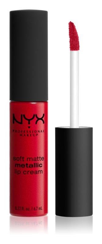 NYX Professional Makeup Soft Matte tekutý rúž s metalicky matným finišom