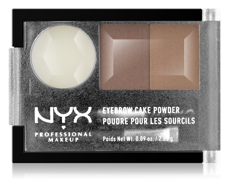 NYX Professional Makeup Eyebrow Cake Powder set za oblikovanje obrvi