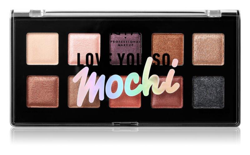 NYX Professional Makeup Love You So Mochi paleta de sombras de ojos
