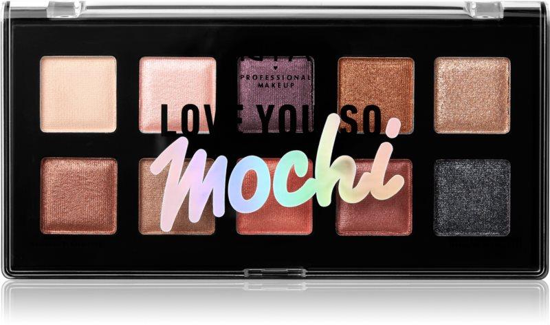 NYX Professional Makeup Love You So Mochi paletka očných tieňov