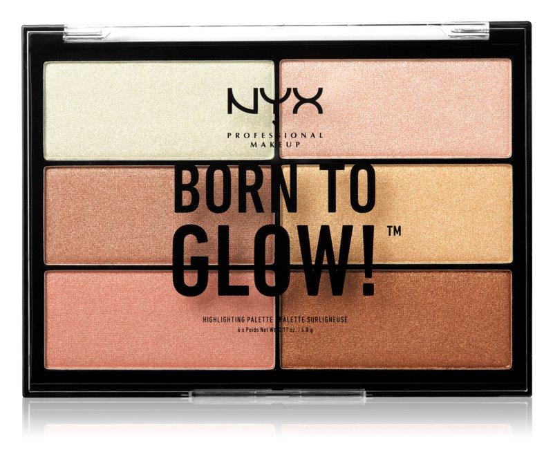 NYX Professional Makeup Born To Glow paletka rozjasňovačů