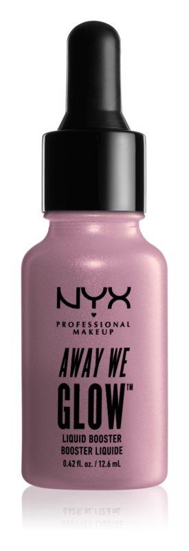 NYX Professional Makeup Away We Glow tekoči osvetljevalec s kapalko