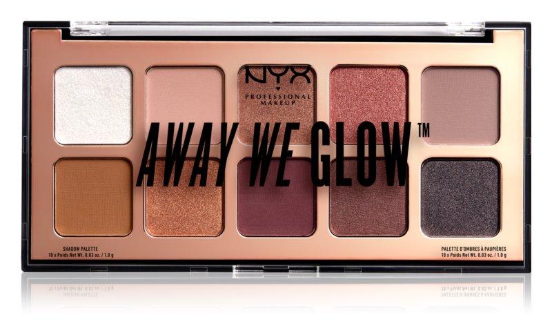 NYX Professional Makeup Away We Glow paletka očných tieňov