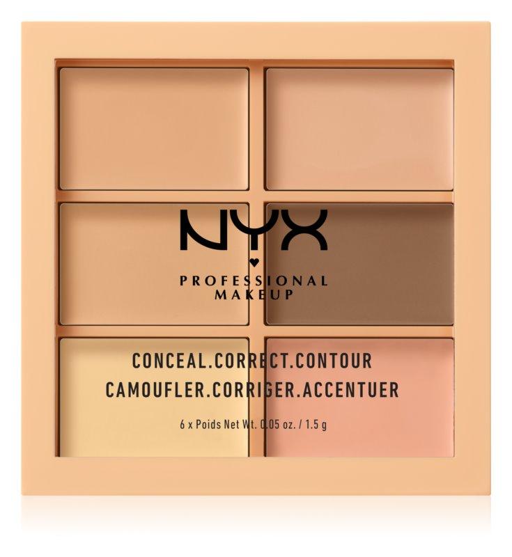 NYX Professional Makeup Conceal. Correct. Contour Korekční a konturovací paletka