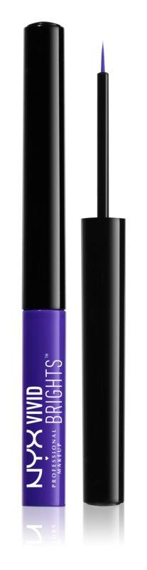 NYX Professional Makeup Vivid Brights farebné tekuté linky na oči