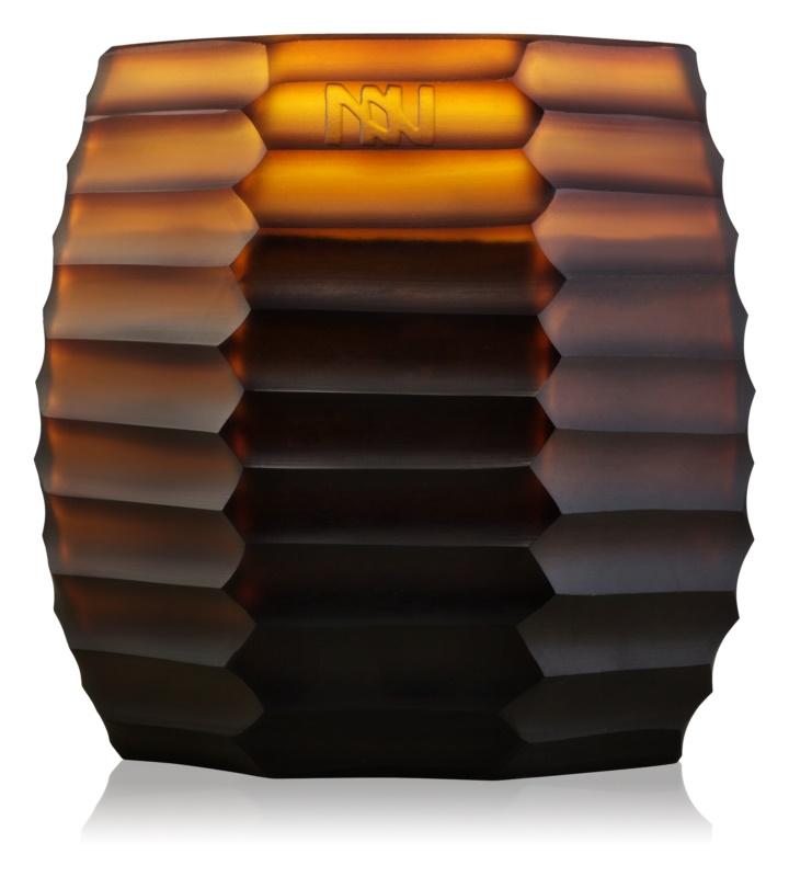 Onno Manyara Brown vonná sviečka 11,5 x 13 cm