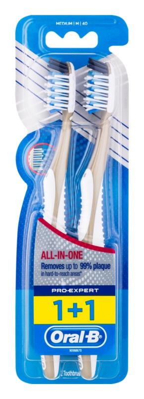 Oral B Pro-Expert CrossAction All In One Zahnbürste Medium 2 pc
