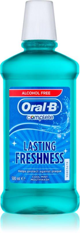 Oral B Complete ústna voda proti zubnému povlaku a pre zdravé ďasná