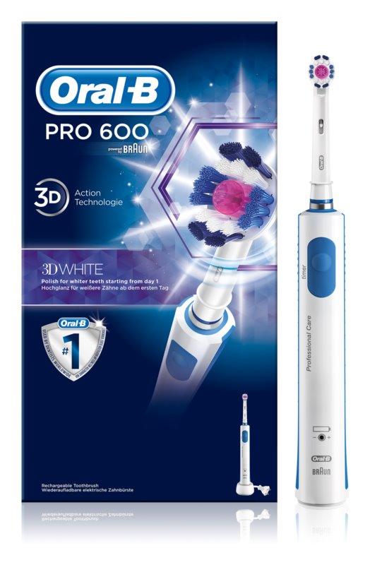 Oral B Pro 600 D16.513 3D White elektrische Zahnbürste