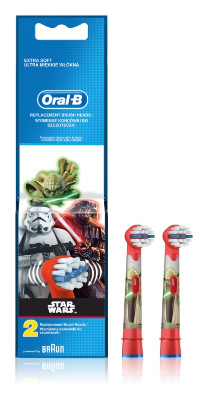 Oral B Stages Power EB10 Star Wars cabeças de reposição para escova de dentes extra suave