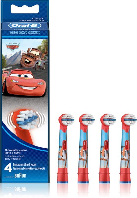 Oral B Stages Power EB10 Cars náhradní hlavice pro zubní kartáček extra soft