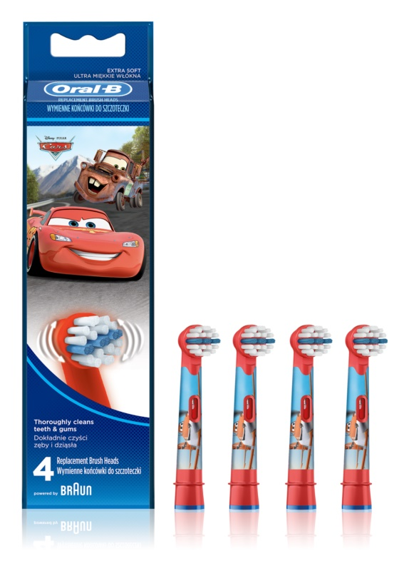 Oral B Stages Power EB10 Cars резервни глави за четка за зъби много мека