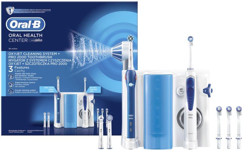 Oral B Oxyjet + PRO 2000 elektrická zubná kefka a ústna sprcha v jednom