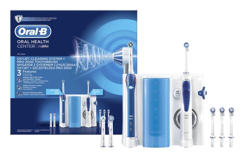 Oral B Oxyjet + PRO 2000 periuță de dinți electrice și duș pe cale orală 2in1