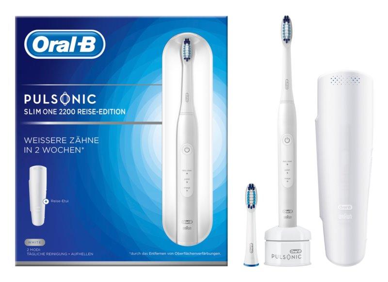 Oral B Pulsonic Slim One 2200 White sonická zubná kefka