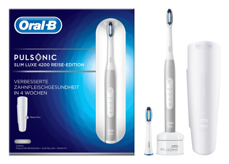 Oral B Pulsonic Slim Luxe 4200 Platinum електрична зубна щітка