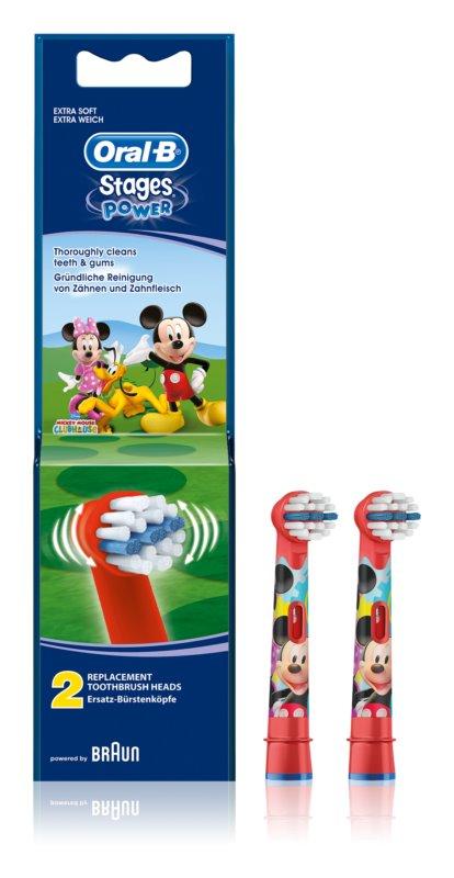 Oral B Stages Power EB10 Mickey Mouse zamjenske glave za zubnu četkicu extra soft