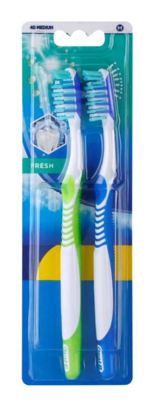 Oral B 3D White Fresh cepillo de dientes medio 2 uds