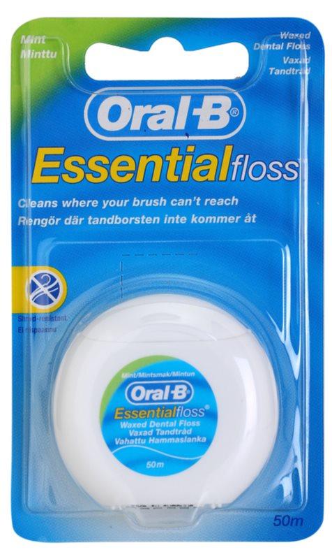 Oral B Essential Floss woskowana nić dentystyczna o smaku mięty