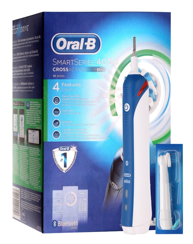 Oral B SmartSeries 4000 D21.525.3M CrossAction cepillo de dientes eléctrico