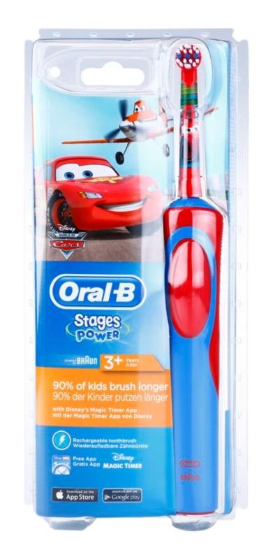Oral B Stages Power Cars D12.513.1 elektrický zubní kartáček pro děti