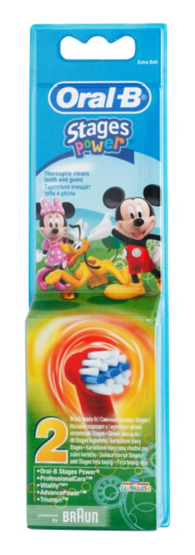 Oral B Stages Power EB10 Mickey Mouse резервни глави за четка за зъби много мека