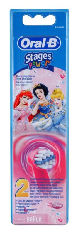 Oral B Stages Power EB10 Princess cabeças de reposição para escova de dentes extra suave