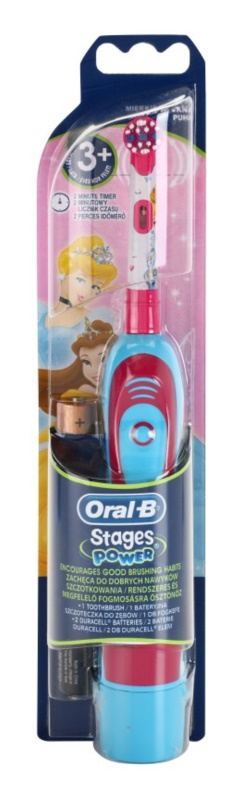 Oral B Stages Power DB4K Princess detská zubná kefka na batérie soft