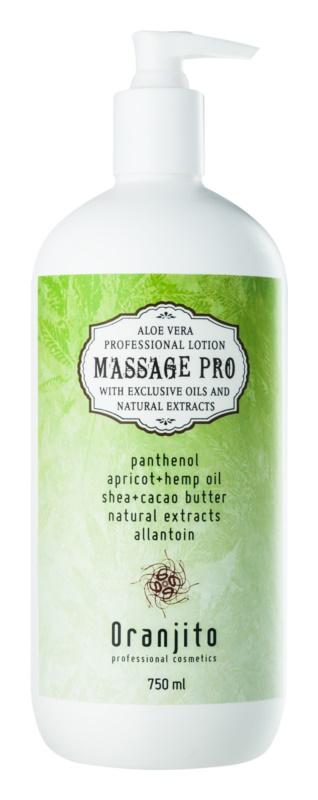 Oranjito Massage Pro masážní mléko s aloe vera