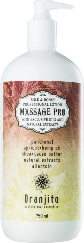 Oranjito Massage Pro masážne mlieko s mliekom a medom