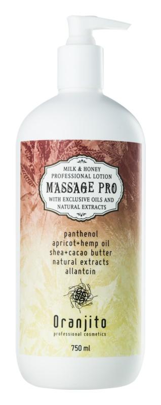 Oranjito Massage Pro масажне молочко з екстрактом меду та молока