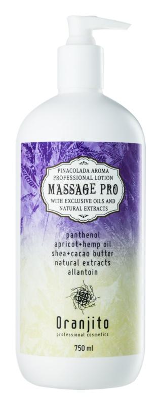 Oranjito Massage Pro loțiune de masaj cu aromă de Piña Colada