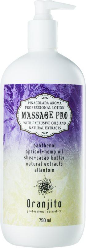 Oranjito Massage Pro masažni losjon z vonjem pina colade