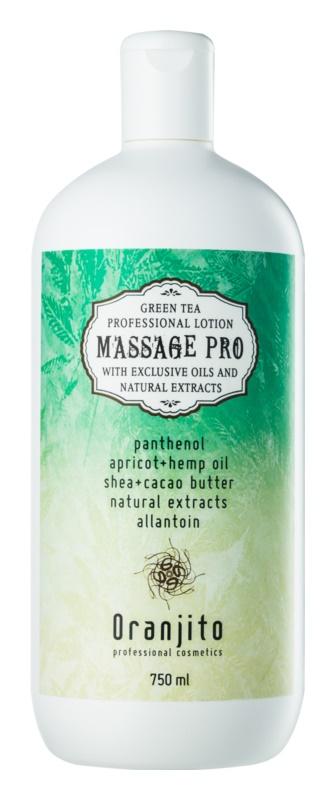 Oranjito Massage Pro loțiune de masaj cu ceai verde