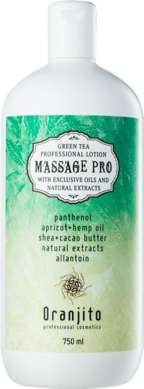 Oranjito Massage Pro masážne mlieko so zeleným čajom