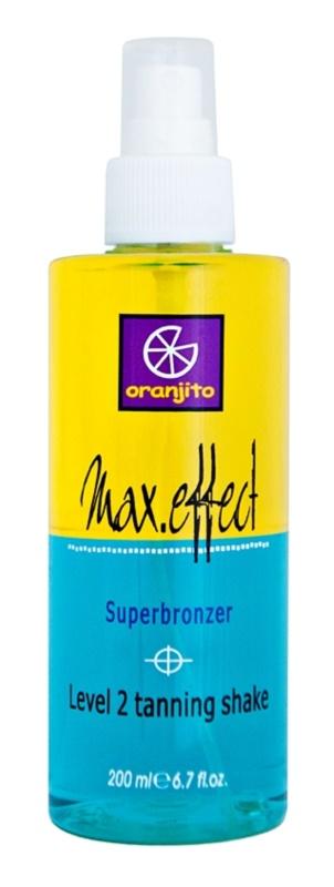 Oranjito Level 2 Shake dvojfázový opaľovací sprej do solária