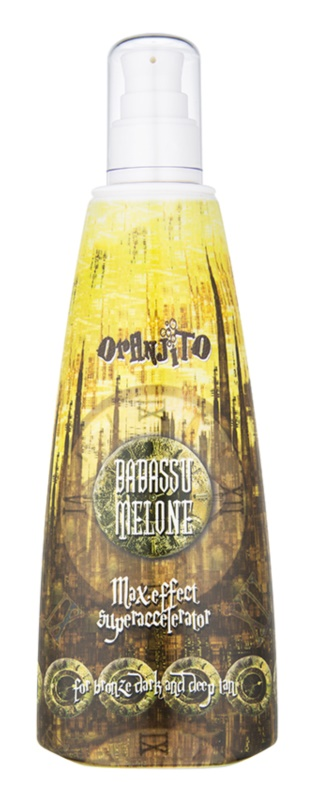 Oranjito Max. Effect Babassu Melone Tanning Bed Sunscreen Lotion To Accelerate Tan