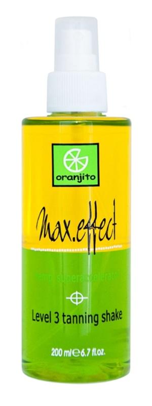 Oranjito Level 3 Shake dvoufázový opalovací sprej do solária