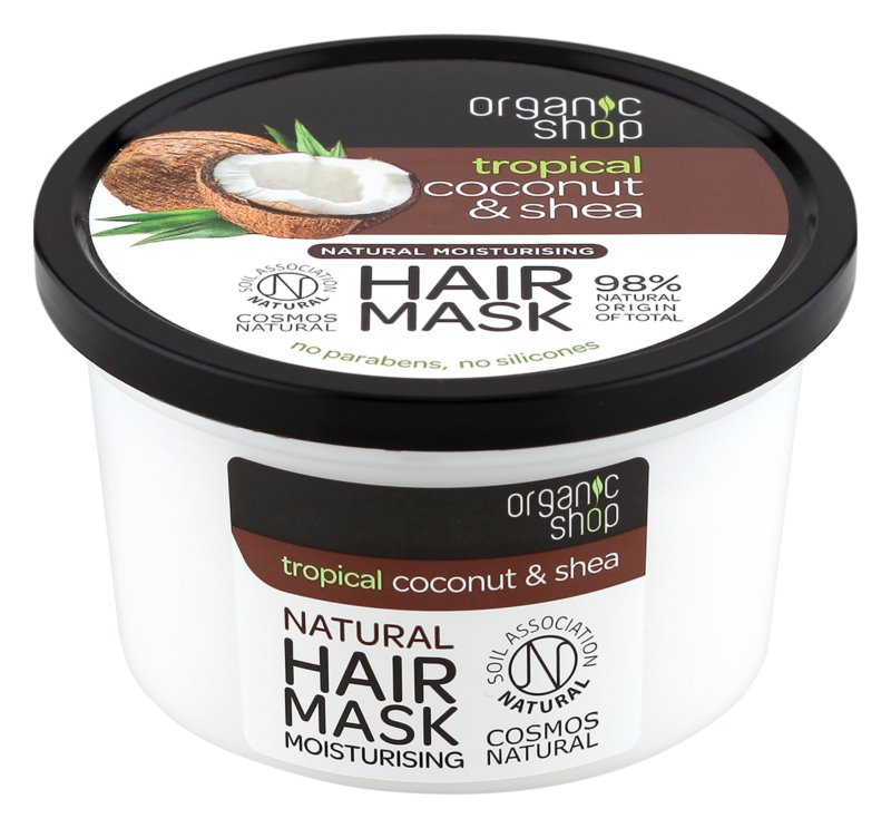 Organic Shop Natural Coconut & Shea intenzivna maska za lase z vlažilnim učinkom