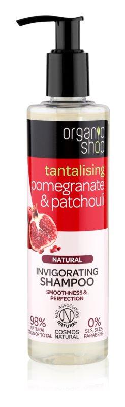 Organic Shop Natural Pomegranate & Patchouli osvežujoči šampon z vlažilnim učinkom