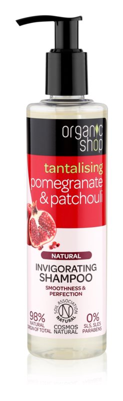 Organic Shop Natural Pomegranate & Patchouli Refresh Shampoo with Moisturizing Effect