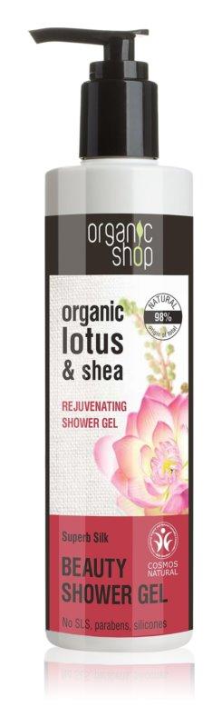 Organic Shop Organic Lotus & Shea zjemňujúci sprchový gél