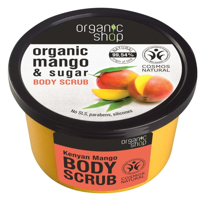 Organic Shop Body Scrub Mango & Sugar piling za telo za svilnato kožo