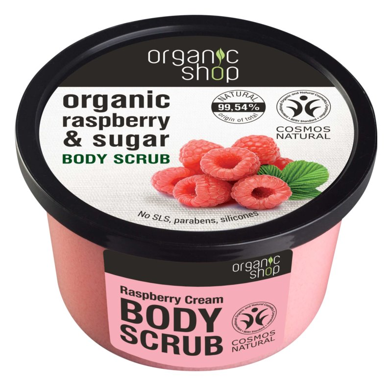 Organic Shop Body Scrub Ruspberry & Sugar jemný telový peeling